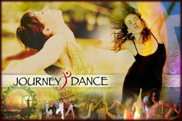 Poster of JourneyDance, an  exhilarating, transformational union of dance, yoga, visualization and ritual.